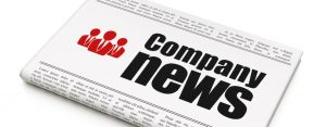 News news concept: newspaper headline Company News and Business People icon on White background, 3d render